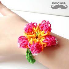 karkötő virágos