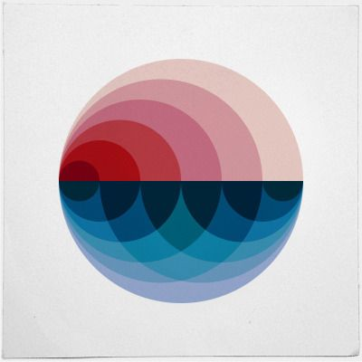 Like this alot, the colours and the circle composition.