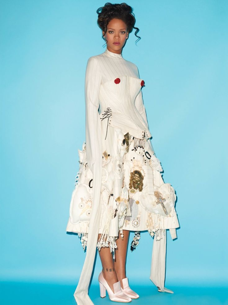 Rihanna channels Marie Antoinette on the fall-winter 2016 cover of CR Fashion Book. Photographed by Terry Richardson