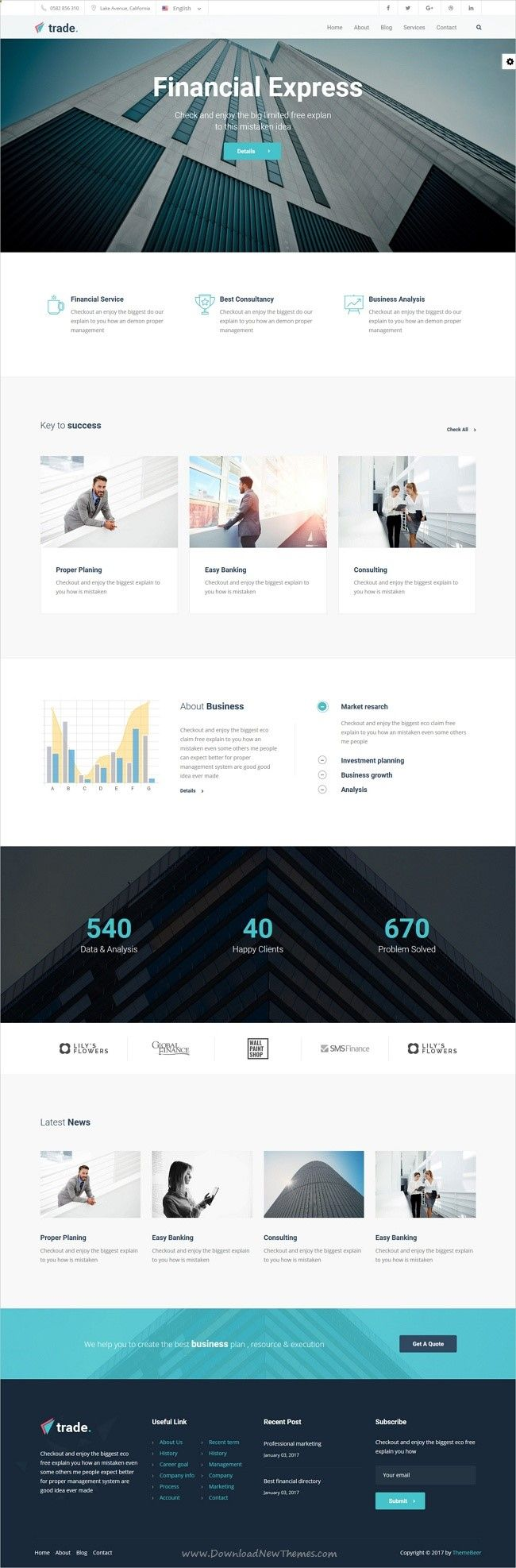 consulting firm cover letter%0A My Trade Finance Business  Trade is a beautiful responsive  WordPress  theme for  professional business  finance  insurance  accountant and   consulting