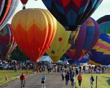 Rocky Mountain Hot Air Balloon Festival in Littleton Colorado - so much fun!