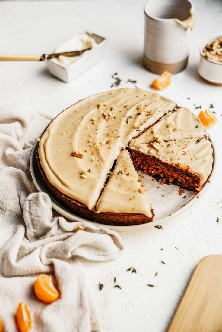 This easy Vegan Carrot Cake is so delicious. Make it into muffins for breakfast, eat it as a dessert, this healthy treat may become your new fav! #carrotcale #vegan #onebowl #easy #foodbymaria