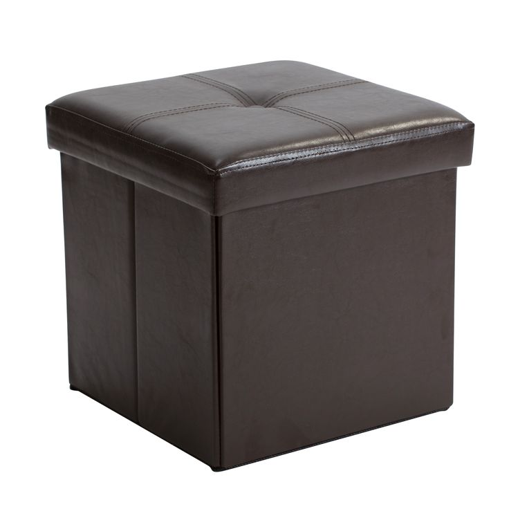 Simplify Chocolate Faux Leather Folding Storage Ottoman Cube - 25+ Best Ideas About Storage Ottoman Cube On Pinterest Ottomans