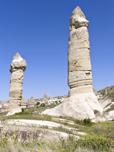 Phallic Rock Formations, Love Valley, Cappadocia, Turkey