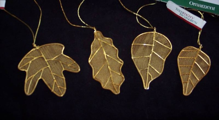 wire mesh leaf ornaments