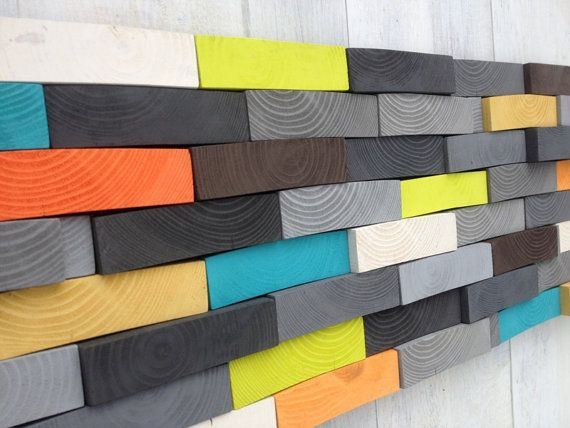 Modern Wood Sculpture Wall Art  Wood Wall Art