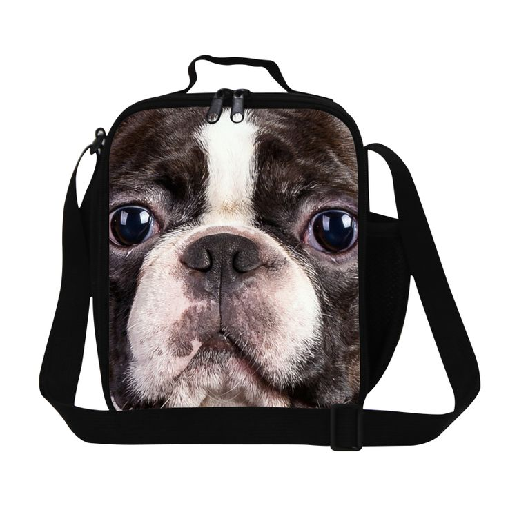 Lovely Lunch Bags for Kids Cute Dog 3D Printing Lunch Coole Bags for Children Teen Girls Personalized Reusable Lunch Container