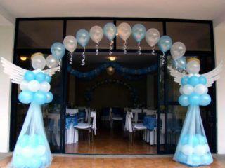 arcos con globos para primera comunion2