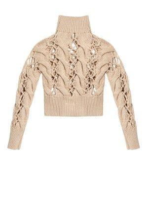 Shop: Chunky cable-knit sweater | MM6 by Maison Margiela | MATCHESFASHION.COM AU