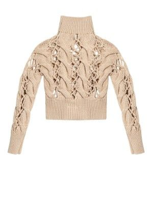 Shop: Chunky cable-knit sweater | MM6 by Maison Margiela | MATCHESFASHION.COM AU