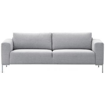 3-Sitzer Sofa Hellgrau Designer Couch Sofa