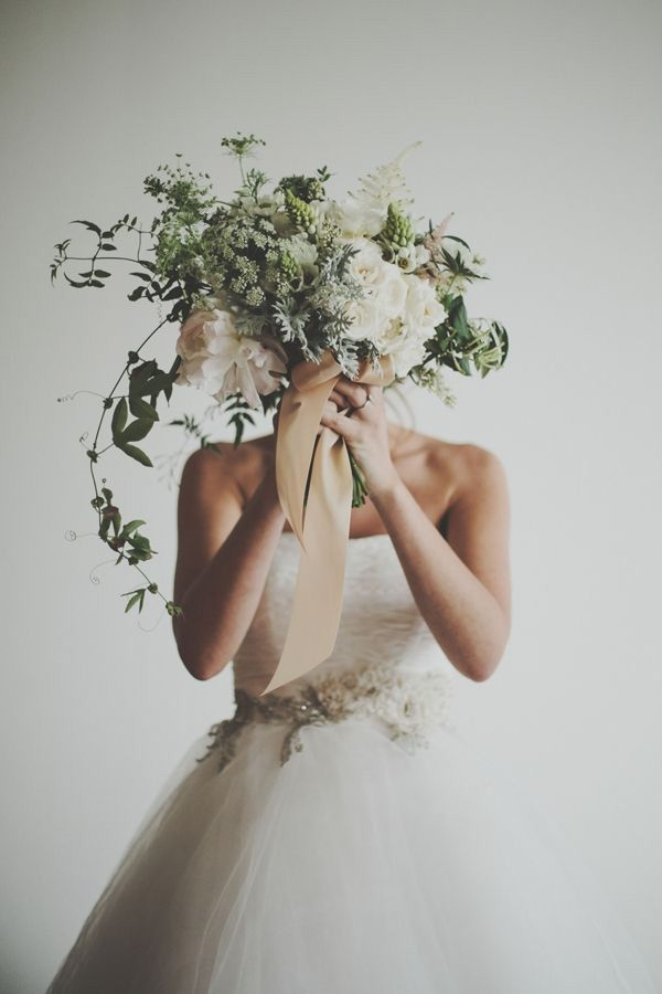 Bridal flowers with tendrils and ferns - Google Search