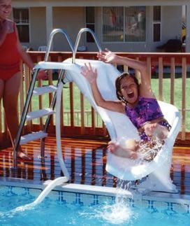 zoomerang above ground pool slide