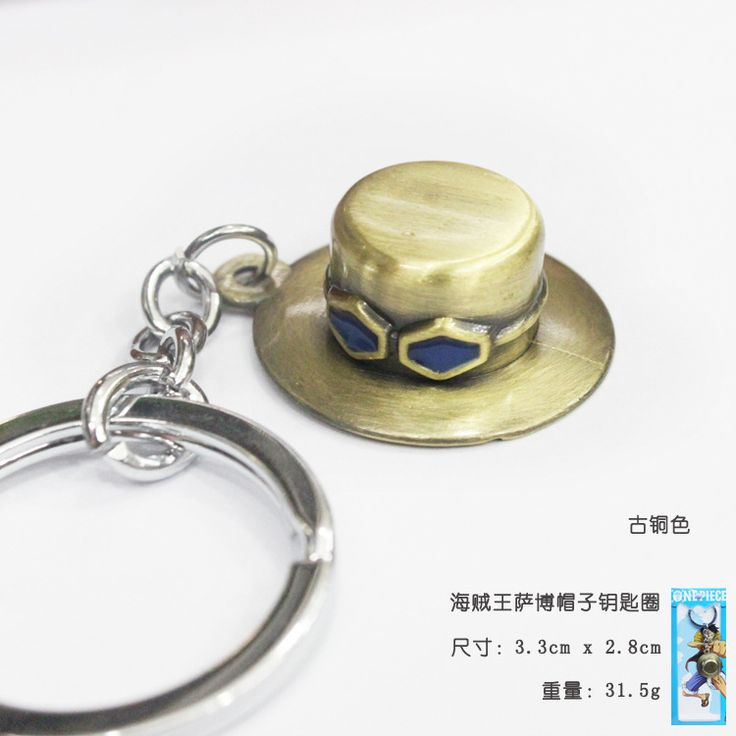 Sabo Hat Keychain Metal Key Chain Pendant Keyring Key Ring //Price: $10.00 & FREE Shipping //     #onepieceluffy #onepiecefigure #dluffystore