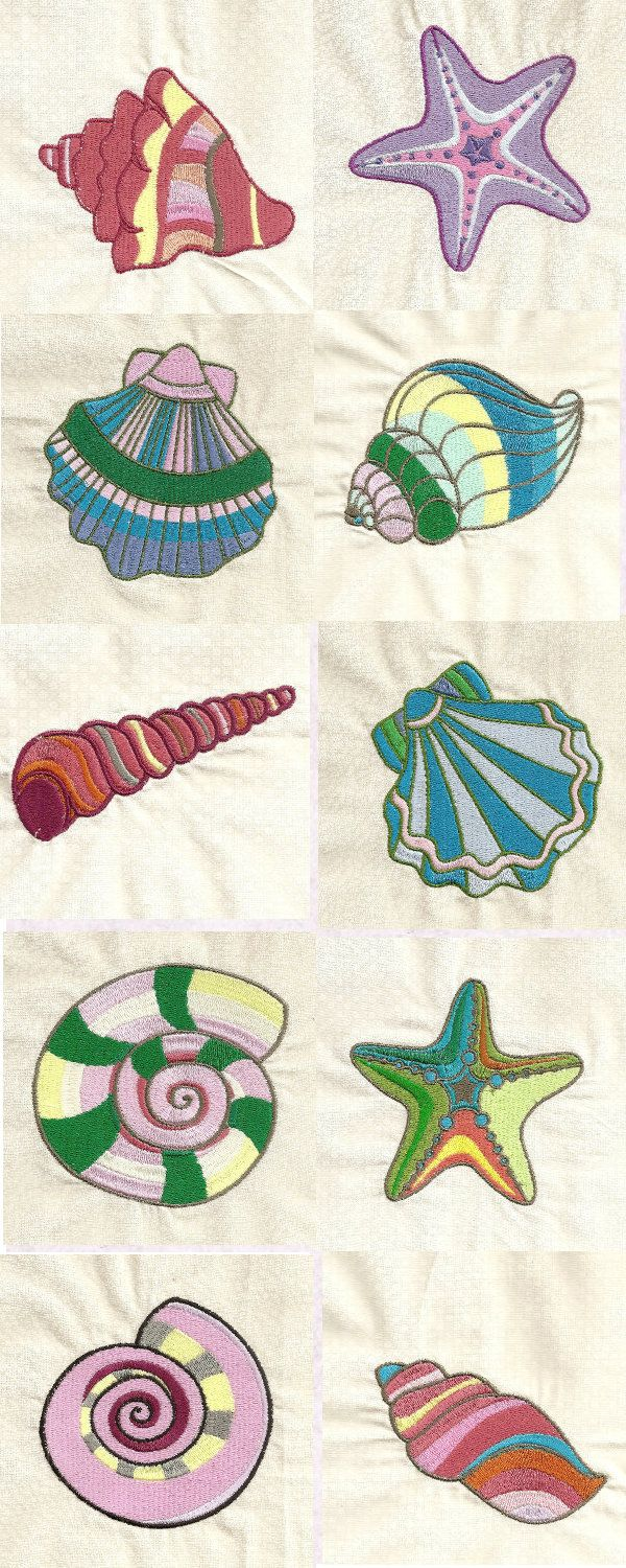 New Shells Embroidery Machine Design Details