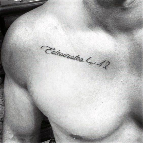 Bible Verse Small Chest Tattoos For Guys