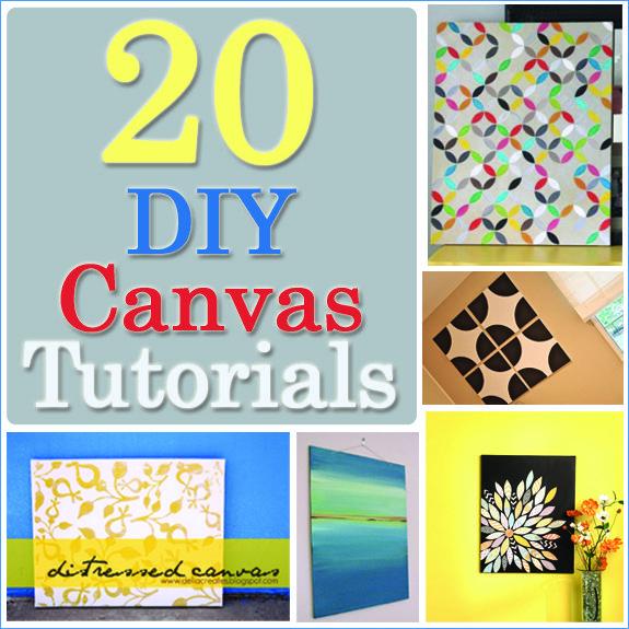 20 DIY Canvas Art Tutorials - great roundup of 20 Canvas Tutorials with tutorials to help you create your own art canvas!!  www.overthebigmoon.com