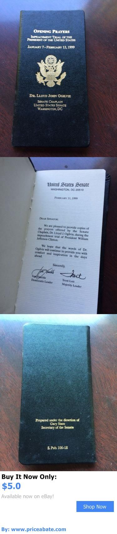 Bill Clinton: Limited Edition Opening Prayers Of The Impeachment Of Bill Clinton BUY IT NOW ONLY: $5.0 #priceabateBillClinton OR #priceabate