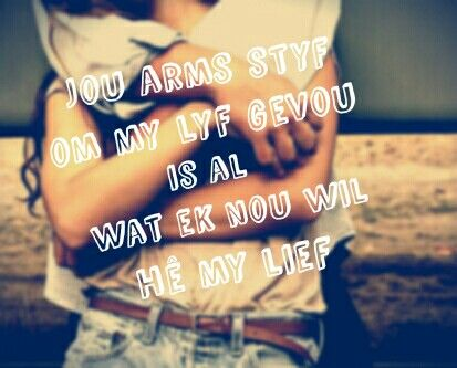 In jou arms