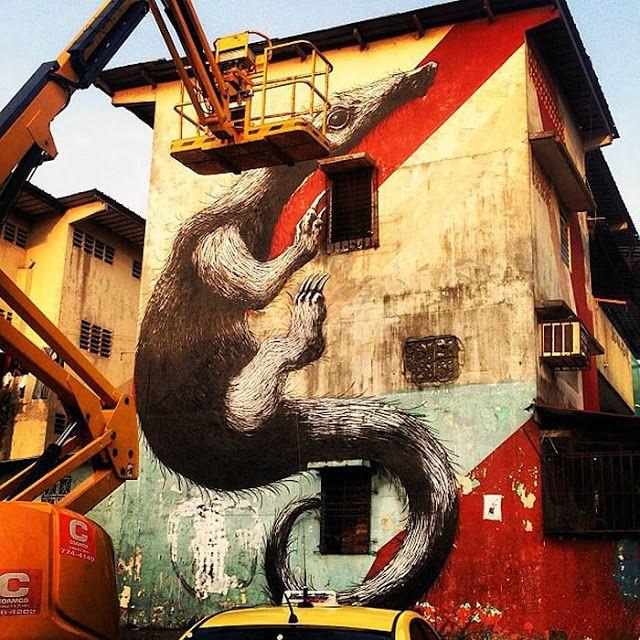 ROA New Murals In Panama City, Panama StreetArtNews