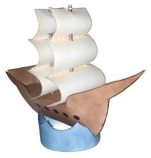 Paper Ship Template - First Fleet