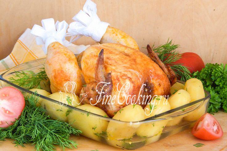 Курица на бутылке в духовке - FineCooking.ru http://finecooking.ru/recipe/kurica-na-butylke-v-duhovke