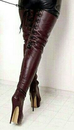 corset lace up Thigh high boots