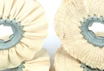 www.consiglioabrasivi.com Ruote, dischi in cotone, sisal e feltro sono raccolti in questo capitolo, insieme a paste abrasive solide per la lucidatura di metalli. Il catalogo segnala gli articoli e le misure più comuni ma siamo in grado di proporre soluzioni personalizzate per qualsiasi esigenza.