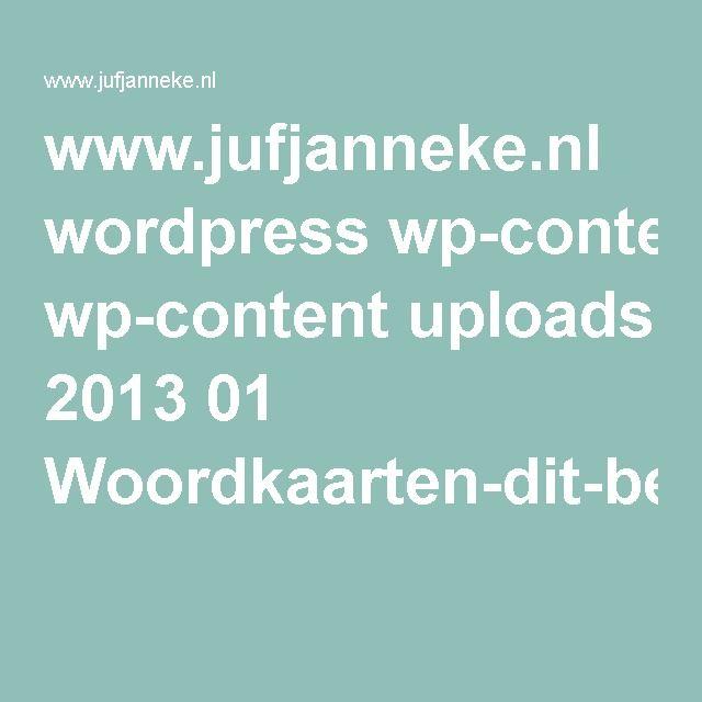 www.jufjanneke.nl wordpress wp-content uploads 2013 01 Woordkaarten-dit-ben-ik.pdf
