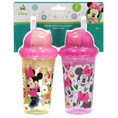 Minnie Mouse Quot Heart Medley Quot 2 Pack Pop Up Straw Sipper