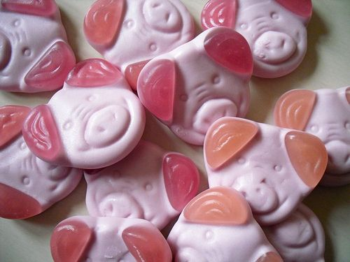 Percy Pigs - soft, gummy sweets from Marks and Spencer - irresistible!