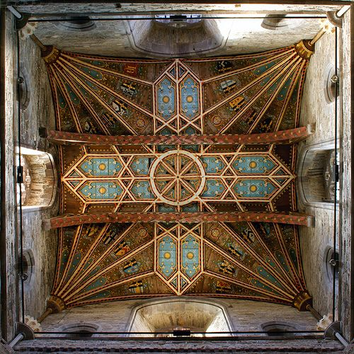The crossing tower of St Davids Cathedral seen from directly below by archidave, via Flickr