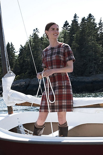 Pendleton Downeast Dress from Anthro- I think this would be such a cute layering piece for fall and winter