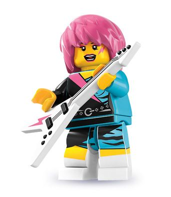 rocker girl, in legos of course!Collection Minifigures, Rocker Girls, Girls Minis, Lego Series, Girls Generation, Lego Minifigures, Minifigures Series, Christmas Gift, Minis Figures
