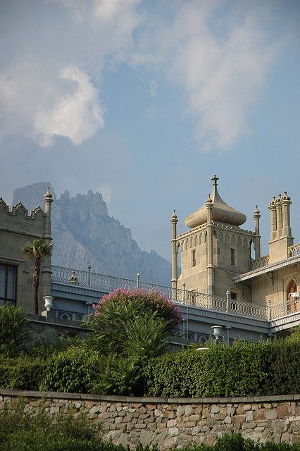 Vorontsov Palace in Alupka, where Churchill stayed during the Yalta Conference in 1945, Ukraine (by mAshr00m).