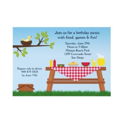Convite de aniversário do piquenique por eventfulcards