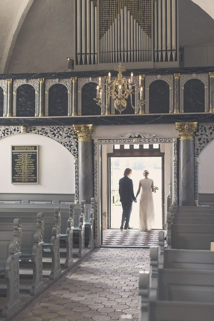 WEDDING CEREMONY - just married - church - sunshine - gold - bridal dress - husband and wife