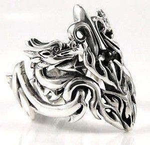 mideval Wedding Rings | Medieval Dragon Mens Ring