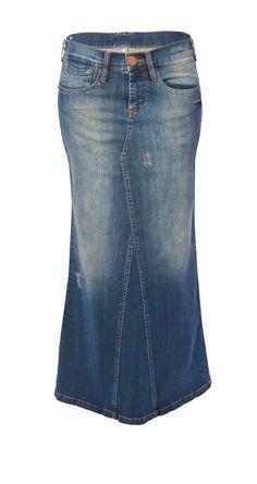 transformar calca jeans em saia longa 1