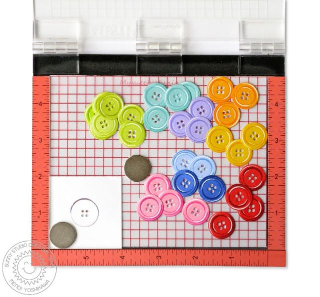 Sunny Studio Stamps: Using Cute As A Button Layering Stamps with Coordinating dies & Mini MISTI