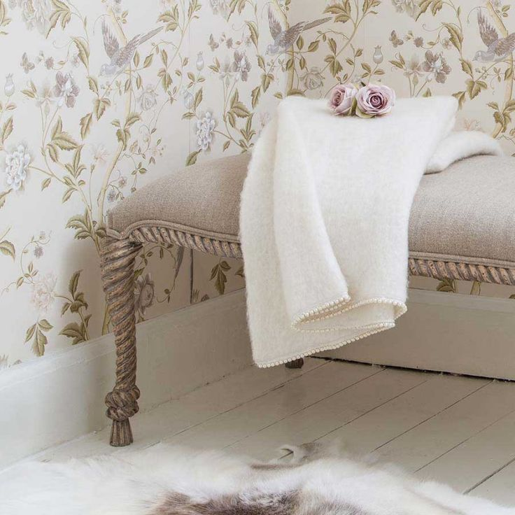 Pearly Queen Mohair Throw Ivory   French Bedroom Company. Smart Meets  Snuggly In This Soft