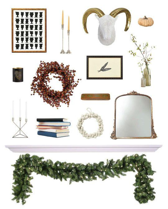 Fireplace Decorating Ideas: Easy Steps to a Beautiful Holiday Mantel: Beautiful Holidays, Fireplaces Mantels, Decor Ideas, Decor Elements, Mantel Decor, Christmas Fireplaces, Fireplaces Decor, Decorating Ideas, Holidays Decor