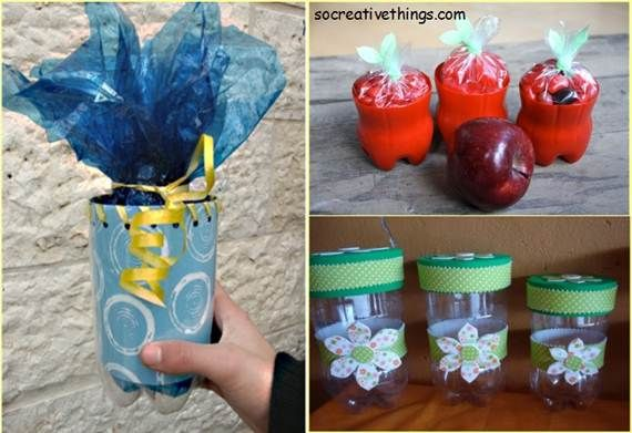 138 best images about creative ideas on pinterest for Creative ideas for recycling plastic bottles