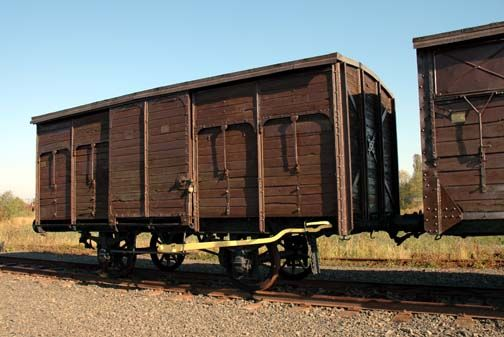 Original boxcar that brought Jews to Auschwitz in 1942  https://www.pinterest.com/rebeccadeeprose/shoah-~-never-never-forget/