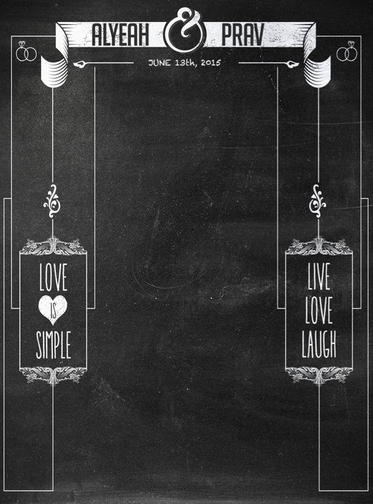 Custom C023 Tall Chalkboards Weddings And Wedding