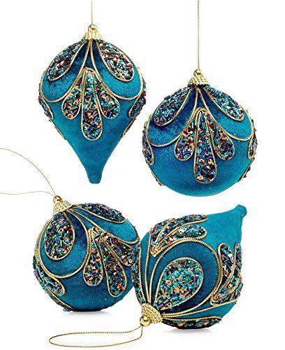 Holiday Lane Peacock Ball & Drop Ornaments