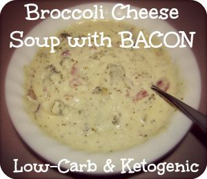 Broccoli Cheese Soup with Bacon  ☀CQ #soup #stews #chili #recipes