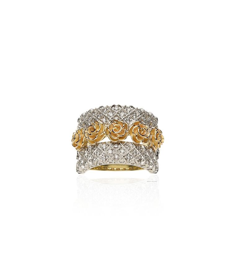 18ct Yellow & white gold and diamonds signify the start of change and the beauty of the seasons. Katrina Ring – Jenna Clifford