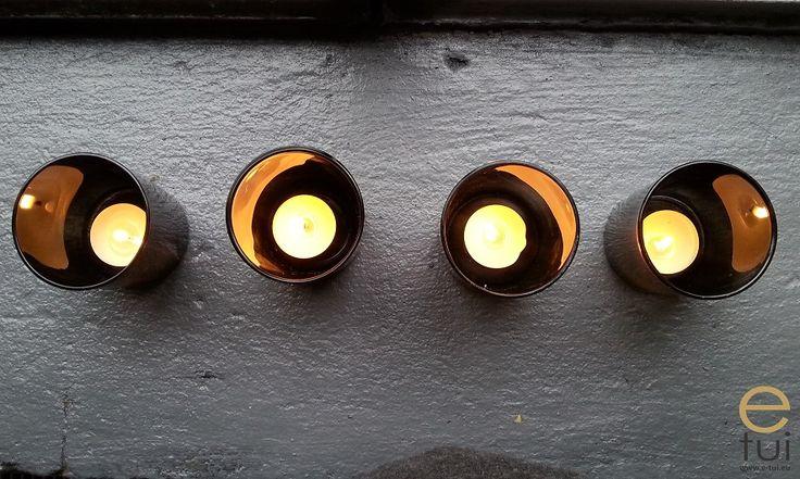 Przydymione szkło - latarenki diy
