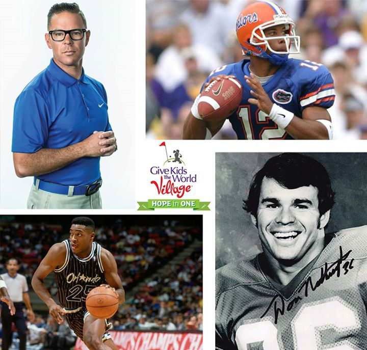 For #SpotlightSaturday, we're excited to announce a few more celebrities who will join us at the inaugural @Give Kids The World Village Hope in One Celebrity Golf Classic: Retired professional basketball player Nick Anderson, former professional football players Chris Leak and Don Nottingham, and Canadian Pro Golf Instructor Sean Foley.   These players will join professional golfers Richy Werenski and Ryann O'Toole in a tournament supporting Give Kids The World's mission on May 1 at the…